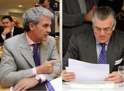 Gerardo Galeote (a la izquierda) y el tesorero del PP, Luis Bárcenas.