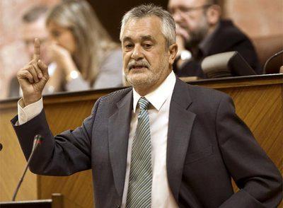 Griñán, durante el debate de su investidura como presidente de la Junta de Andalucía.