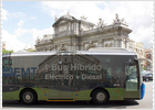 Arranca en Madrid el primer autobús híbrido español