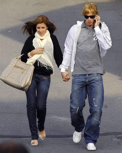 Fernando Torres y su novia Olalla Domínguez.
