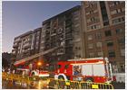 Un incendio obliga a desalojar un edificio de siete plantas en Vigo