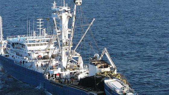 Imagen del atunero vasco 'Alakrana', rumbo a las Seychelles después de haber sido liberado.