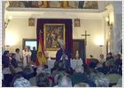 Un obispo celebra una misa en Paracuellos con símbolos franquistas