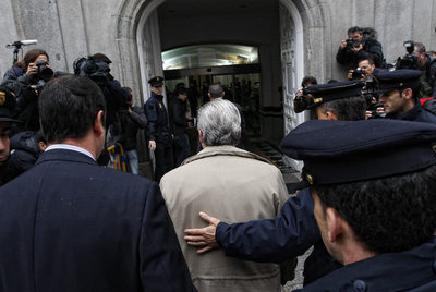 El juez Baltasar Garzón, a su entrada en el Tribunal Supremo el pasado jueves para prestar declaración como imputado.