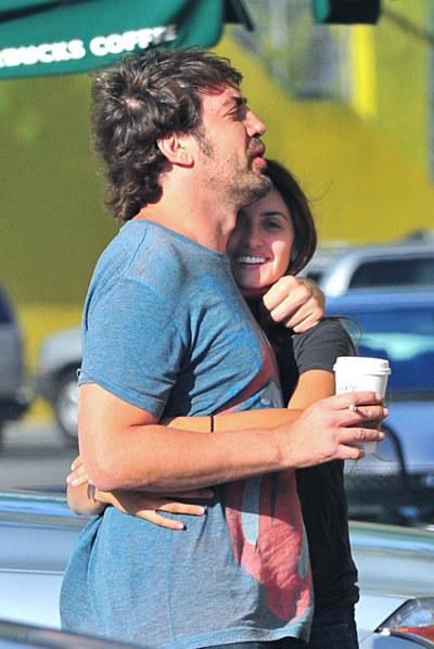 Javier Bardem y Penélope Cruz, en California el pasado mes de abril.