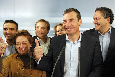 Tomás Gómez comparece ante los medios tras ganar las primarias de Madrid
