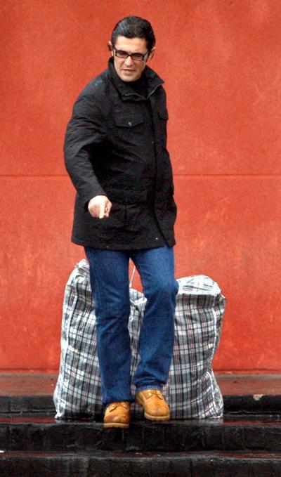 Antonio Puerta, cuando salió de la cárcel madrileña de Estremera, en febrero de 2010, tras pagar una fianza.