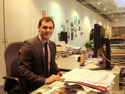Albert Rivera, líder de Ciutadans, en la sede de EL PAÍS en Barcelona.