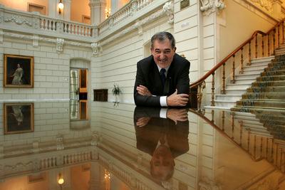 Cándido Conde Pumpido, en su despacho de la Fiscalía General del Estado.