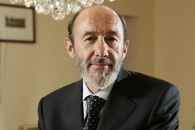 El vicepresidente y portavoz del Gobierno, Alfredo Pérez Rubalcaba.