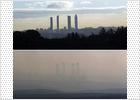 La lluvia barre más de la mitad de la contaminación en Madrid