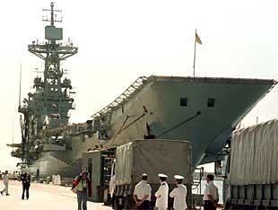 El portaaeronaves Príncipe de Asturias, el pasado 25 de septiembre, en la base de Rota.