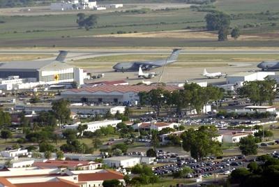 Vista aérea de la base de Rota.