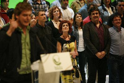 Acto de presentación de Bildu, en San Sebastián, el pasado sábado.