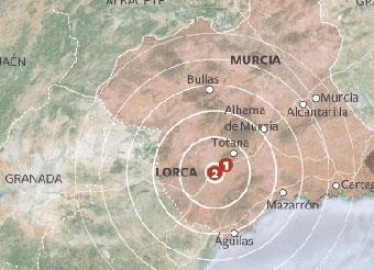 Murcia, en la zona más sísmica de España