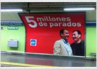 El PP pone su logo en los carteles sobre Tomás Gómez y Zapatero