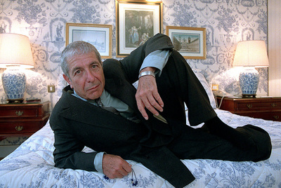 Leonard Cohen, photographed in Madrid in 2001.