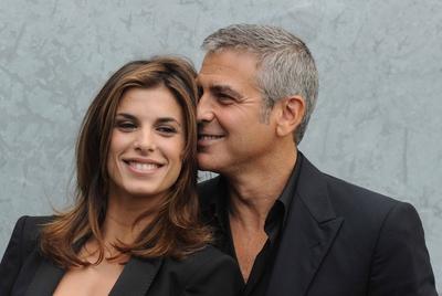 George Clooney y Elisabetta Canalis.