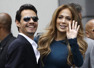 Jennifer López junto con Marc Anthony en una ceremonia en Hollywood el pasado mes de mayo