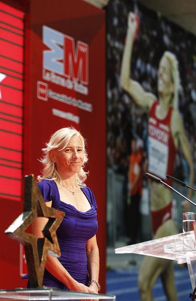 Marta Domínguez, durante la entrega del Internacional del Deporte 2009 de Madrid.