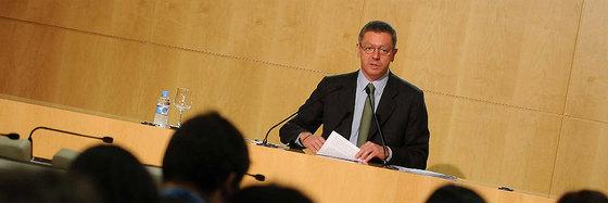 Gallardón, durante la rueda de prensa tras la Junta de Gobierno.