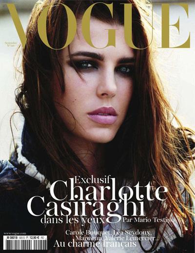 Carlota Casiraghi, hija de Carolina de Mónaco, en la portada de la revista 'Vogue' de septiembre de 2011.