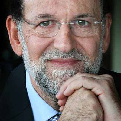 Mariano Rajoy, pictured during the interview.