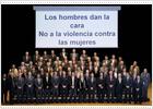70 hombres dan la cara contra la violencia de género