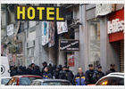 Dawn raid provides alarm call for occupiers of downtown Madrid hotel