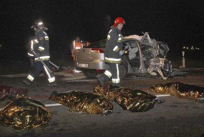 Cuatro fallecidos en un choque mortal en Palencia.