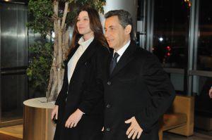 Carla Bruni y Nicolas Sarkozy, el pasado 15 de febrero.