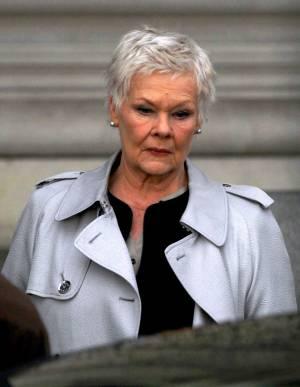Judi Dench, durante el rodaje de 'Skyfall'