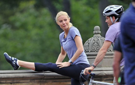 Gwyneth Paltrow, en Central Park, con Mark Ruffalo.