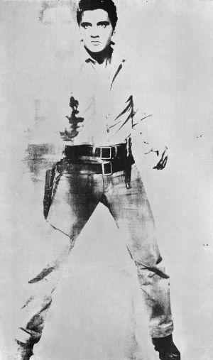 Retrato de Elvis Presley firmado por Andy Warhol en 1963.