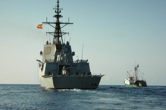 The Spanish frigate Méndez Núñez.