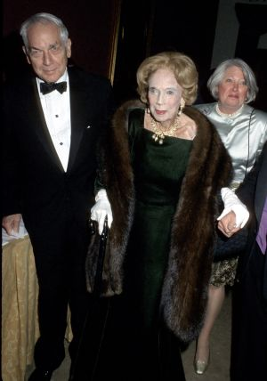 Brooke Astor y su hijo Anthony Marshall.