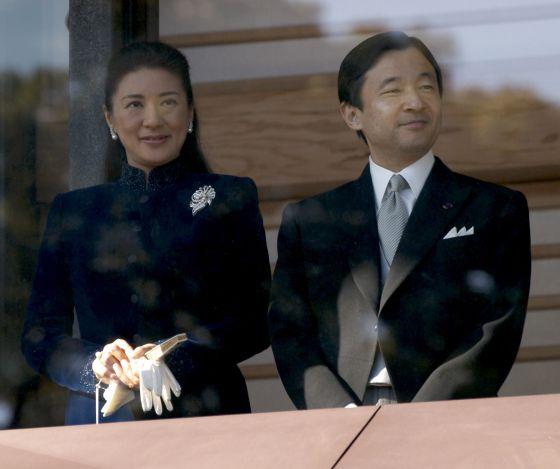 Masako y su marido, Naruhito, en enero de 2010.