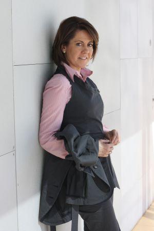 La presidenta navarra Yolanda Barcina, en su época de alcaldesa de Pamplona, tres años antes de recibir el polémico tartazo.