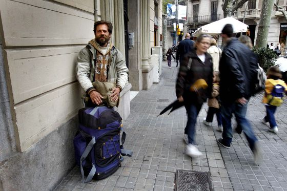 Constantin Nedelcu is among the 800 or so people who sleep on Barcelona's streets every night.
