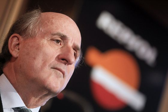 Repsol chairman Antonio Brufau during a press confernece on Tuesday.