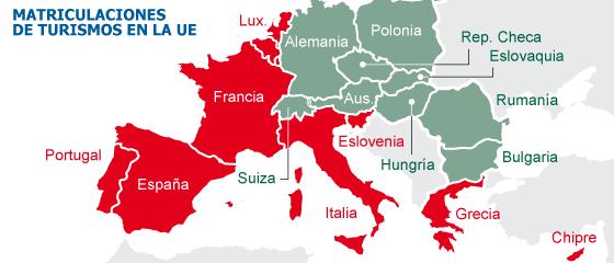 Las ventas caen un 7,0% en Europa