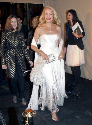 La exmodelo y actriz Jerry Hall, el martes en Madrid.