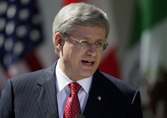 Canadian Prime Minister Stephen Harper, who, along with President Obama, rejected a petition to allow Cuba to attend the next Summit of the Americas.