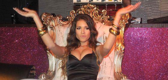 Karima El Mahroug, conocida como Ruby, en un acto público en noviembre de 2010.