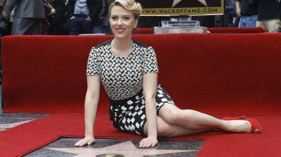 Scarlett Johansson, con su estrella