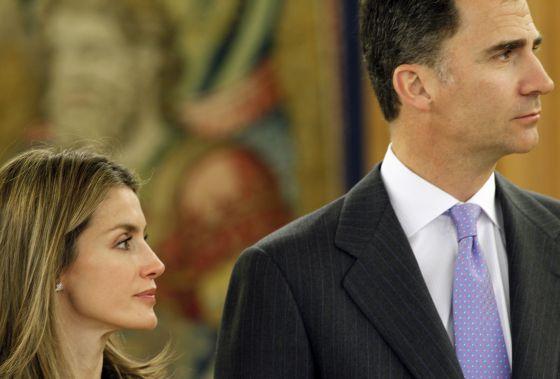 Don Felipe y doña Letizia, en un acto oficial.