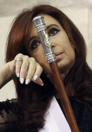 Argentina's Cristina Fernández de Kirchner during her inauguration last December.