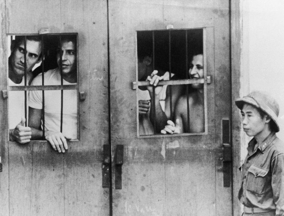 Prisioneros estadounidense, en una campo de detenidos en Hanoi, Vietnam del Norte, en una imagen tomada en marzo de 1973.