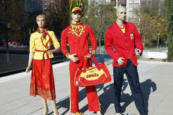 Equipamiento olímpico español presentado por el COE la semana pasada.