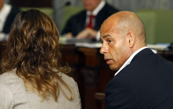 Fernando Torres Baena and his wife María José González in court on Tuesday.